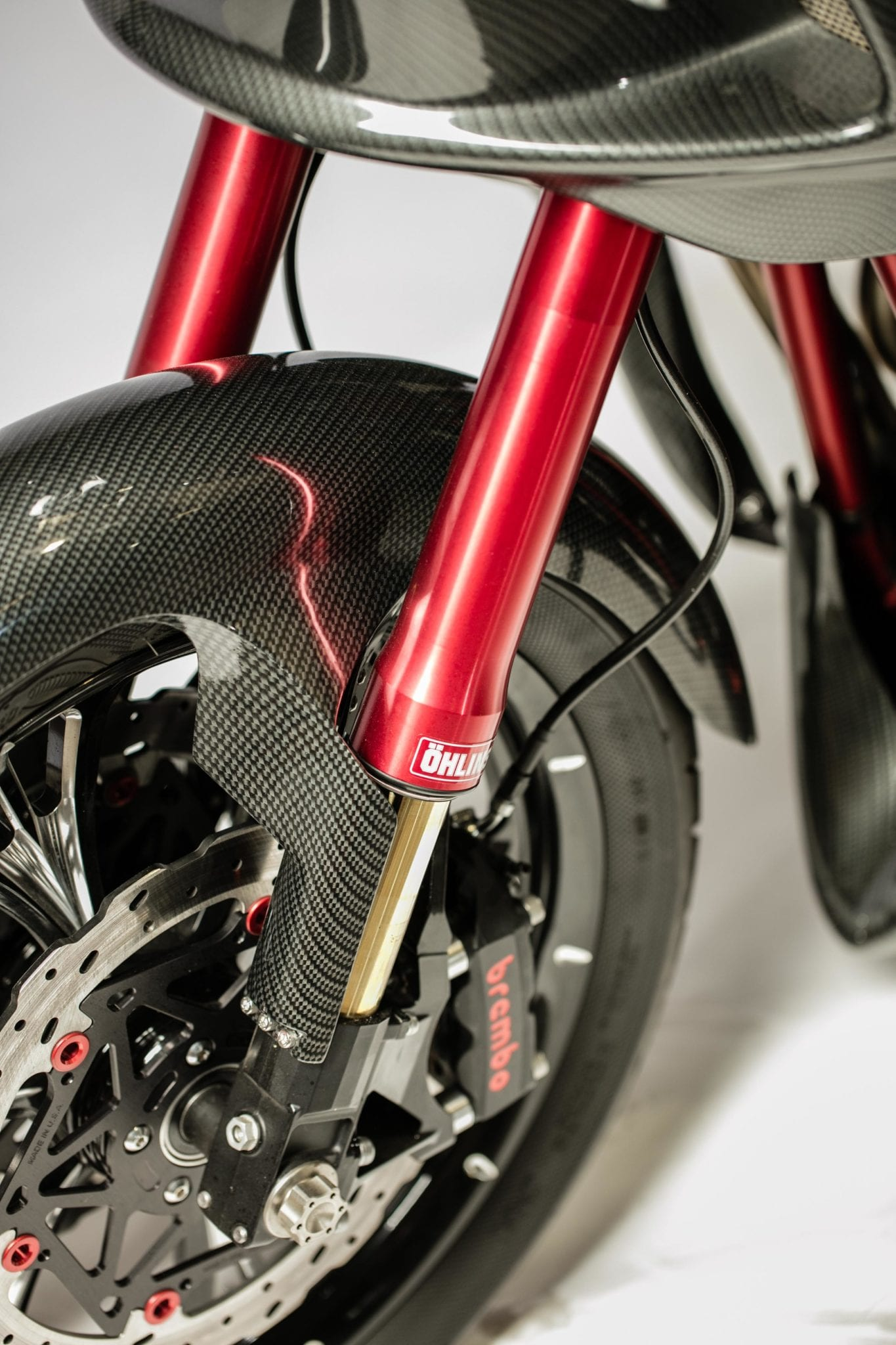 ÖHLINS DYNA INVERTED FRONT END USE WITH STOCK BRAKES